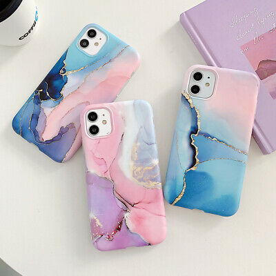 AU9.97 • Buy Cute Marble Silicone Case Cover For IPhone 13 11 12 Pro Max Xs XR 7 8 Plus SE2