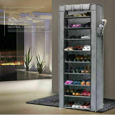 AU26.98 • Buy Shoe Rack Stackable Cabinet Storage Organiser Portable Wardrobe With Cover