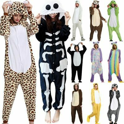 One Piece Men Women Cute Fleece Cosplay Kigurumi Animal Bear Panda Party Pajamas • 12.88£