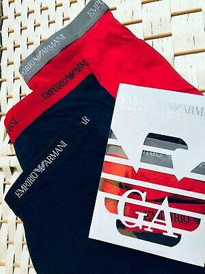 £21.99 • Buy BNWT Emporio Armani 3 In Pack Boxers Low Rise Shorts Cotton Stock Clearance