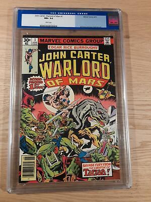 AU154.30 • Buy John Carter Warlord Of Mars # 1, Marvel 1977, White Pages, NM+, CGC 9.6