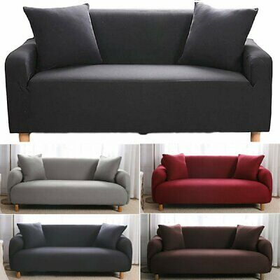 AU19.99 • Buy Plain Sofa Covers 1/2/3/4 Seat Couch Covers Seater Slip Couch Stretch Removeable