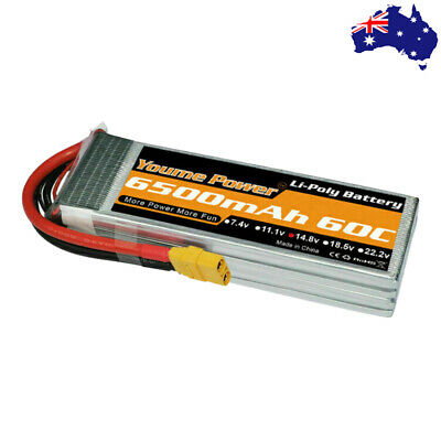 AU69.81 • Buy Youme 6500mAh 4S 14.8V LiPo Battery 60C XT90 For RC Helicopter Truck Car Drone
