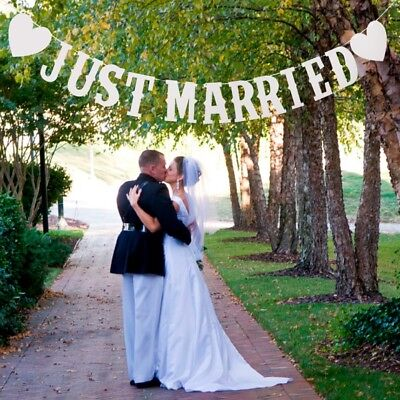 Just Married Wedding Banner Garland Paper Card Bunting Wedding Supplies Crafts • 3.59£