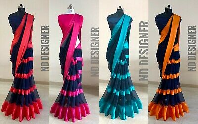 Bollywood Designer Saree Indian Ethnic Wedding Party Wear Sari Fashion New SN • 14.99£