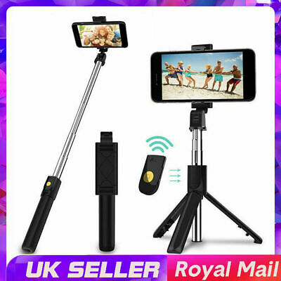 Telescopic Selfie Stick Bluetooth Tripod Monopod Phone Holder For IPhone Samsung • 6.99£