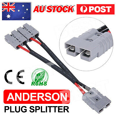 AU14.85 • Buy 50 Amp Anderson Plug Connector Double Y Extension Adaptor 6mm Automotive Cable
