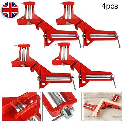 £9.99 • Buy 4Pcs Frame Corner Angle Clamps Woodworking 90 Degrees Right Angle Clamp Clip Set