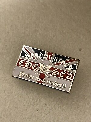 Very Rare Chelsea Supporter Headhunters Hooligan Firm Enamel Badge No Surrender • 4.99£