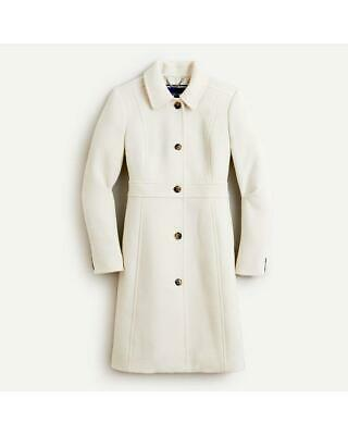 AU350.14 • Buy J.Crew $375 Double-Cloth Wool Lady Day Coat W/ Thinsulate 0 Vintage White 49622