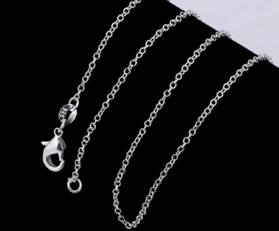 £3.77 • Buy Genuine 925 Sterling Silver Chain Necklace Womens Thin 1,2mm/22 Inch