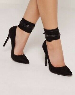 Missguided Lace Up Ankle Cuff Court Shoes 7 • 4£