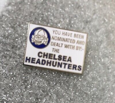 Rare Chelsea Supporter Headhunter Hooligan Firm Enamel Badge Calling Card Design • 3.99£