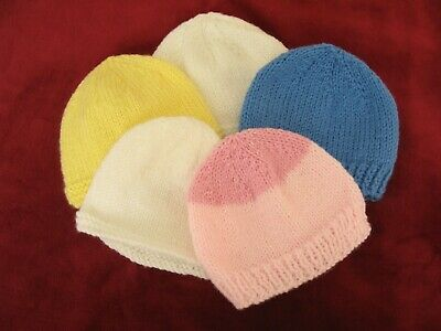 New Baby Hand Knitted Hats • 1.20£