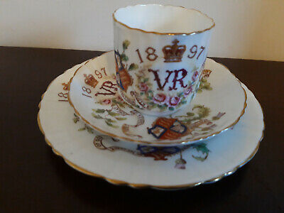 £40 • Buy Antique Queen Victoria 1897 Jubilee Trio, Tea Cup, Saucer And Plate