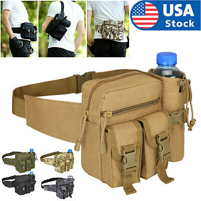 $12.98 • Buy Outdoor Utility Tactical Waist Fanny Pack Pouch Military Camping Hiking Belt Bag