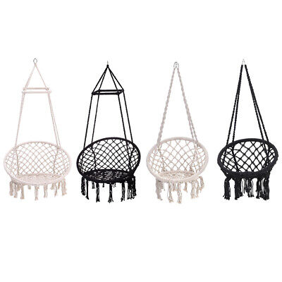 Outdoor Indoor Relax Hanging Hammock Rope Swing Chair Macrame Hammock Seat/Stand • 159.59£