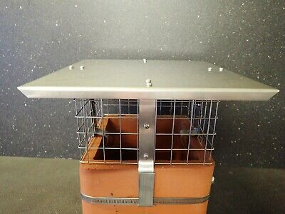 £35.95 • Buy Square Stainless Steel Chimney Cowl/ Bird Guard. *FREE POSTAGE*.