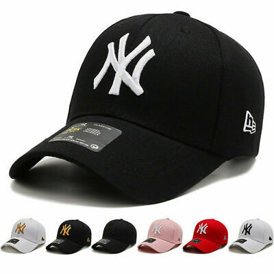 New Mens Womens Baseball Cap Adjustable NY Snapback Sport Hip-Hop Sun Hats • 7.99£