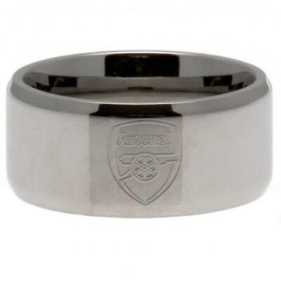 £18.99 • Buy Official ARSENAL FC Stainless Steel Band RING Gunners Gift