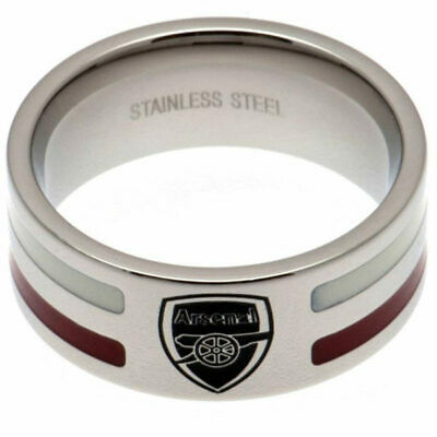 £22.99 • Buy Official ARSENAL FC Stainless Steel Colour Stripe RING In A Gift Box