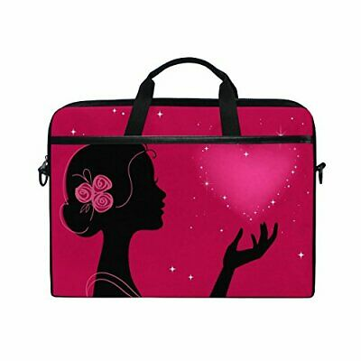 Laptop Case, Computer Sleeve Protective Bag Girl Heart Pattern 3 Layer With • 32.20£