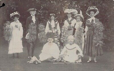 Pagent Fancy Dressed People Postcard C1908 • 9.99£