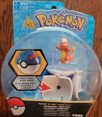 TOMY Pokemon Collectible Throw And Pop Poke Ball With Charmander Action Figure • 9.28£