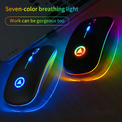 AU16.49 • Buy Wireless Mouse Ergonomic Mouse Silent USB Charge Mode Mice For PC Laptop AU