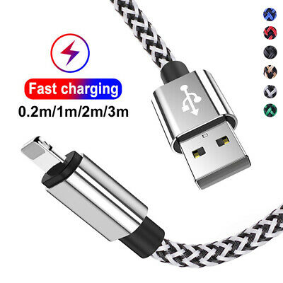 Heavy Duty USB Lead Fast Charge Data Charger Cable For IPhone 2m 3m Extra Long • 3.15£