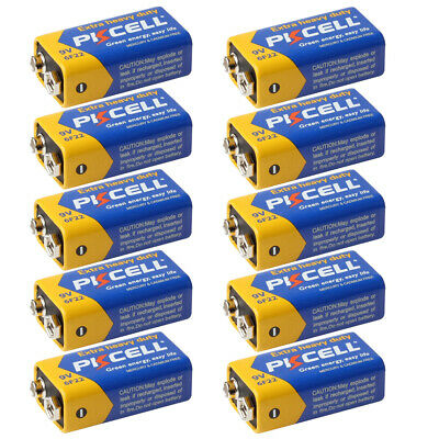 AU16.99 • Buy 9V 6F22 EN22 MN1604 Zinc-Carbon 9Volt Batteries For Microphones Pack Of 10