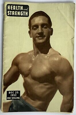 Vintage HEALTH AND STRENGTH Mens Bodybuilding Magazine DEC 1952; GAY INTEREST • 3.99£