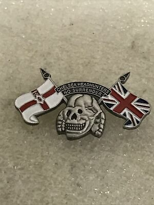 Classic Very Rare Chelsea Supporter Headhunter Hooligan Firm Enamel Badge • 4.99£
