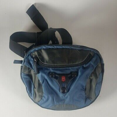 Victorinox Fanny Pack Belt Bag Blue Swiss Army. Multiple Compartements. • 10.73£