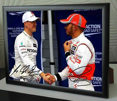 LEWIS HAMILTON 2020 F1 World Champion Framed Canvas Signed Print  Great Gift  • 18.99£