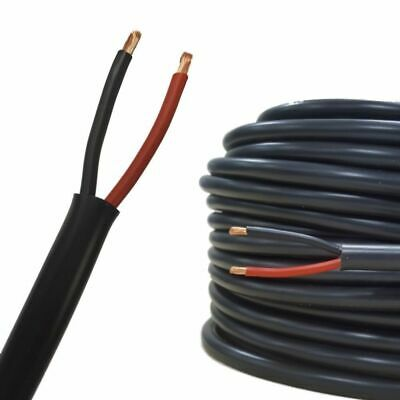 £2.23 • Buy TWIN 2 Core Cable 12v 24v Thin Wall Wire Automotive Red Black ROUND And FLAT