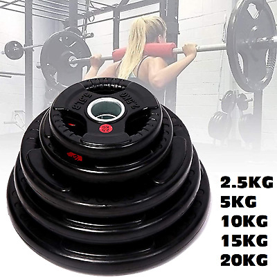 AU26 • Buy 2.5KG - 20KG Home Gym Weight Plates Barbell Dumbbell Fitness Weightlifting