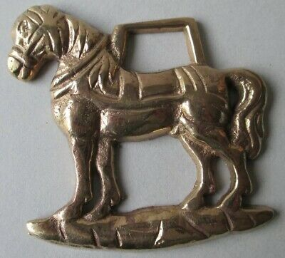 Vintage Shire Horse In Harness Horse Brass. Beautiful Condition. • 2.50£
