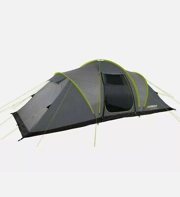 Urban Escapes 6 Person 2 Rooms Tunnel Tent Large Family Tent With Porch. • 165£