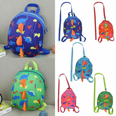 Cartoon Baby Toddler Kids Dinosaur Safety Harness Strap Bag Backpack With Reins • 7.99£