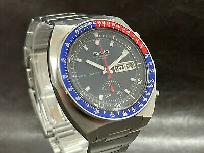 $ CDN1091.82 • Buy Vintage Seiko Chronograph Automatic 6139-6002 POGUE Blue Resist 70 M Dial