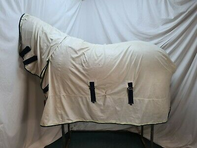Used 6'9 Asker Fly Horse Rug W/ Fixed Hood #B05858 • 19.99£