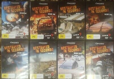 AU340 • Buy Destroyed In Seconds Dvd Documentary Tv Complete Series Volumes 1 2 3 4 5 6 7 8