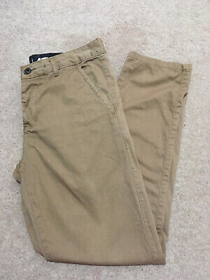 Mens Size W32 Short Crosshatch Trousers Dark Series Norway Brown Chino L30 • 9.99£