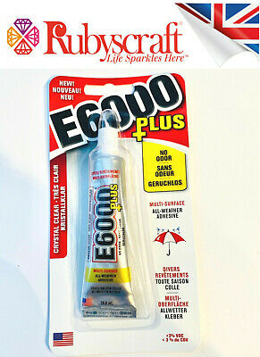 £8.99 • Buy E6000 PLUS Glue - No Odour Industrial Strength Adhesive Clear 26ml With Nozzle