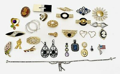 $ CDN106.70 • Buy Signed Rhinestone Jewelry Collection Lot Monet Lia Sophia Estate Pieces More