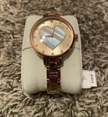 $ CDN75.18 • Buy Kate Spade Ladies Metro Rose Gold-Tone Watch Heart Love KSW1216 FREE Shipping