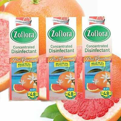 3x Zoflora Concentrated Disinfectant PINK GRAPEFRUIT 120 Ml Limited Edition  • 8.50£