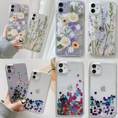 AU11.37 • Buy For IPhone 12 Pro Max 11 XS X 8 Liquid Quicksand Soft Sequins Flower Case Cover