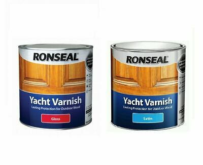 Ronseal Yacht Varnish Exterior Long Lasting - Satin Or Gloss Finish -  All Sizes • 27.49£